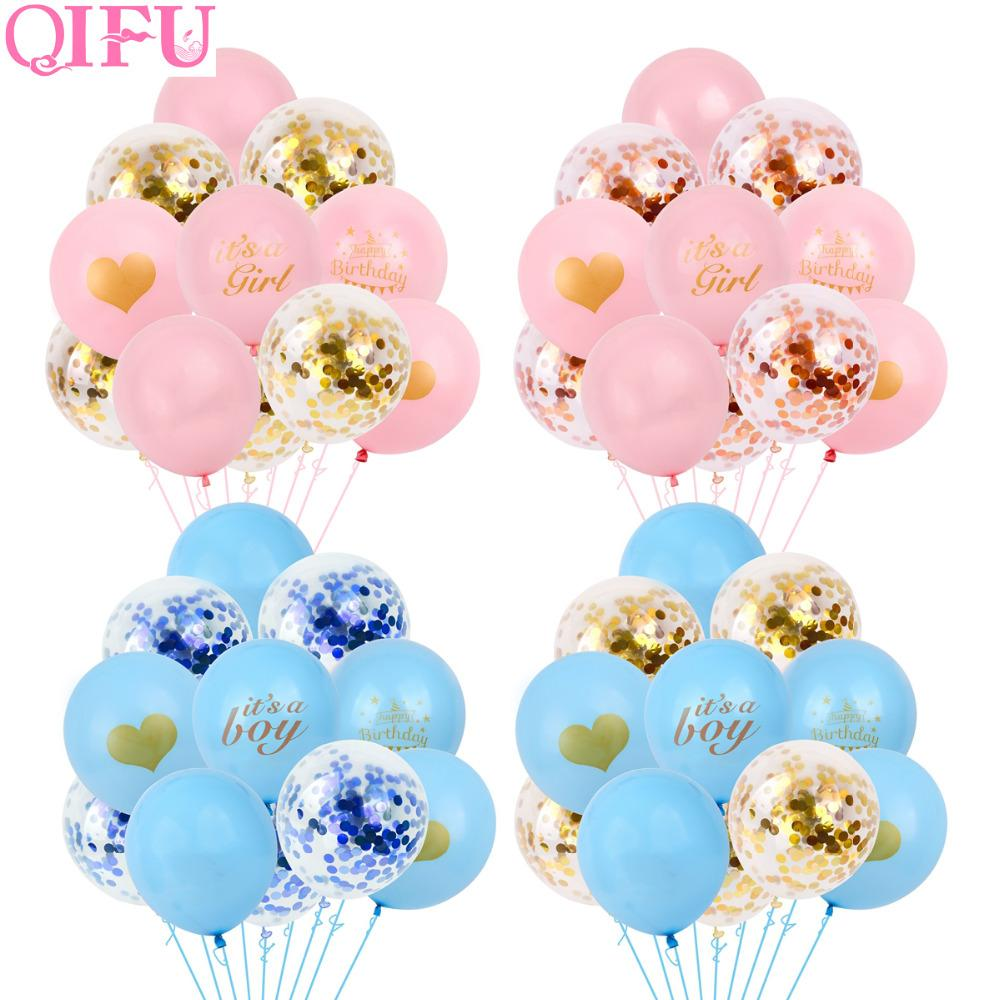 Baby Shower Boy Decoracion.Qifu Baby Shower Boy Girl Its A Girl Blue Pink Balloon Party Decoration First Birthday Gender Reveal Babyshower Party Supplies British Party