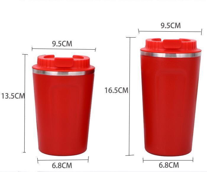 Paslanmaz Çelik Seyahat Kupası 304 Vakum Tumbler Açık Boş Taşınabilir tumblers Araba Bardaklar Kahve Bira Kupalar Su Şişeleri GGA2362