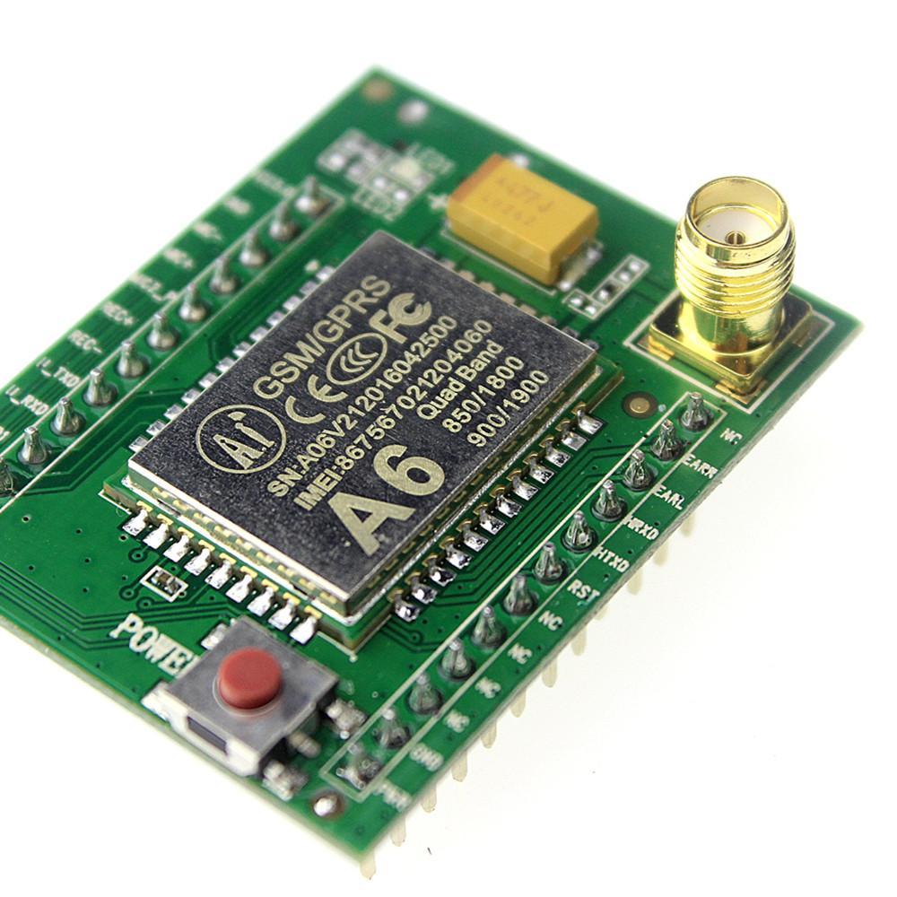 Freeshipping 10pcs GPRS module GSM module A6/SMS/Speech/board/wireless data transmission adapter plate