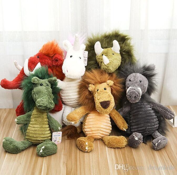 Cute Long Hair Animal Plush Toys Unicorn Stuffed Toy Elephant Children's Toys 28/38cm Plush Gifts Toy For Kids