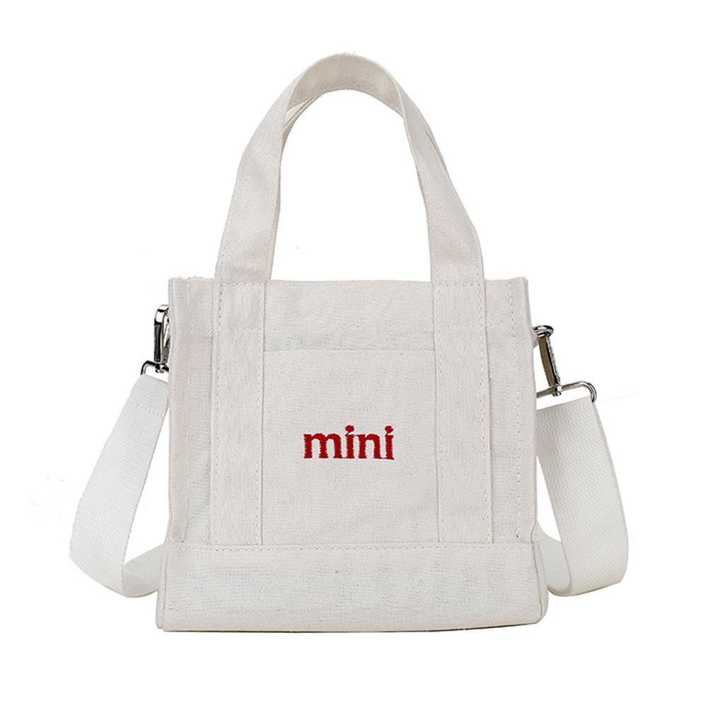 Bolso coreano de moda de estilo pequeño lienzo Mini Square Bolsas Messenger Crossbody totalizadores ocasionales para las muchachas de las mujeres estudiantes 2019
