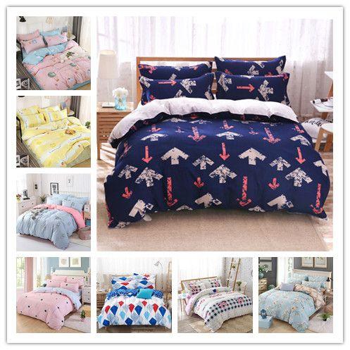 Moderna vendita calda Federa dolce e confortevoli lenzuola completo copripiumino dimensione a due letti queen re