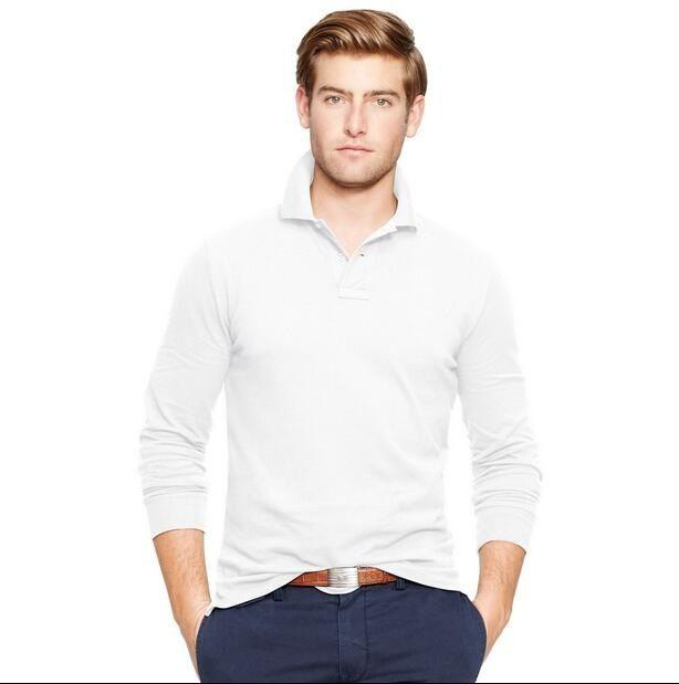 2019 hot sale big horse Men's Crocodile Embroidery Polo Shirt qulity Polos Men Cotton Long Sleeve shirt s-ports jerseys Plus M-4XL Hot Sale