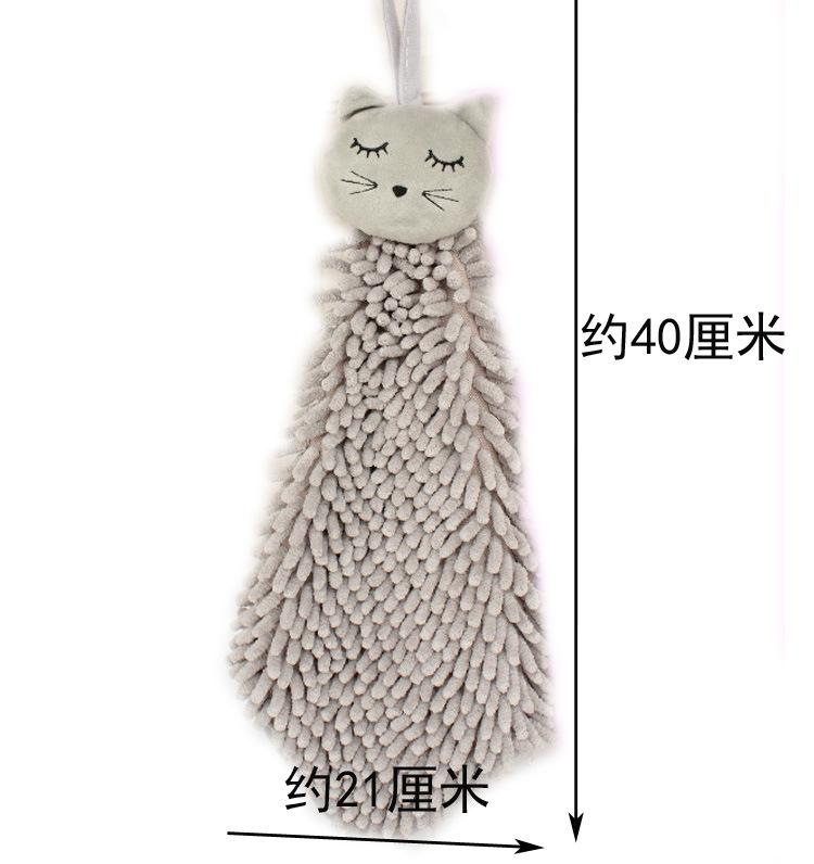 Animal Hand Towel cute Cartoon Handkerchief chenille Microfiber Wash Towel Can Be Hung Kitchen used Dry Your Hands Quickly