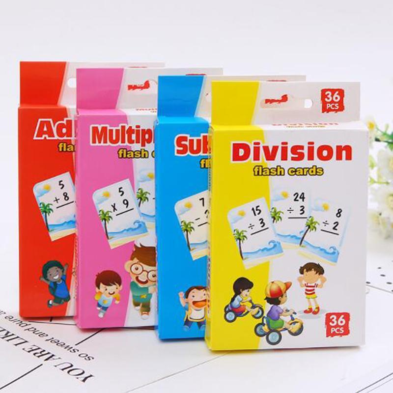 Montessori Matemática Teach Cartão Crianças Ferramenta pré-escolar do jardim de infância Jogos Pai-Criança Toy Kids Math Brinquedos Educativos caçoa o presente
