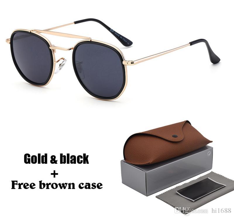 Новые прибывшие Марка Дизайнерские солнцезащитные очки Женщины мужчины Шестиугольные винтажные Квадратные Солнцезащитные очки óculos de sol с чехлом и коробками