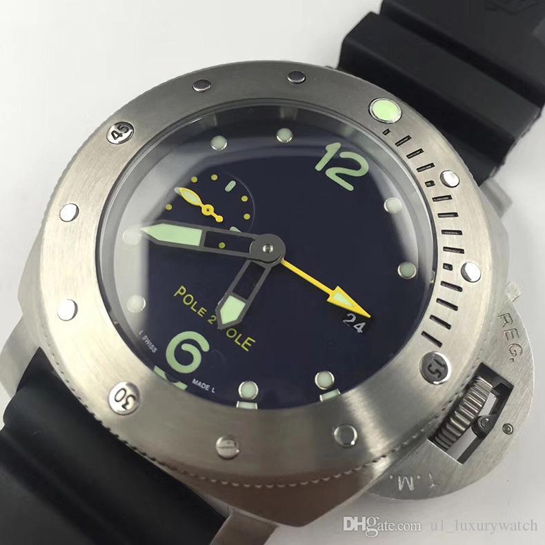 acciaio inox montre de luxe Mens Fashion Casual Orologi sportivi degli uomini automatici della vigilanza dell'uomo militare Relogio Masculino