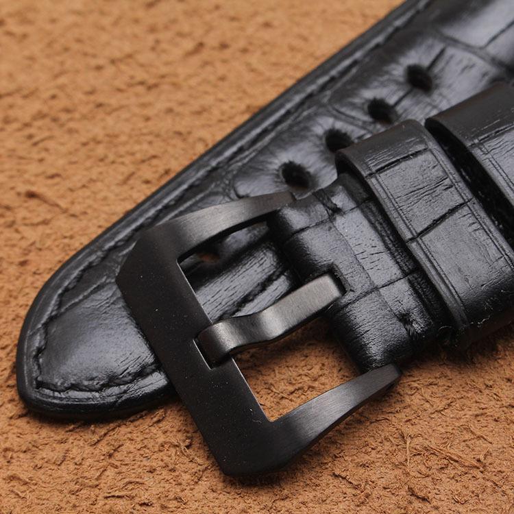 pulseira de couro de moda Grosso couro cinta preta marrom vermelho adequado para Paner gordura 24 26 milímetros masculino
