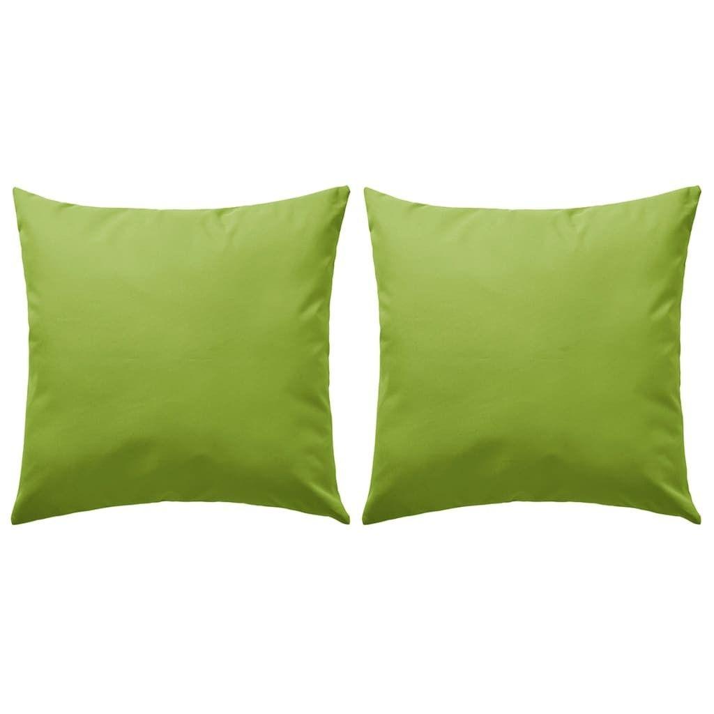 almofadas ao ar livre 2 unidades 60x60 cm maçã verde