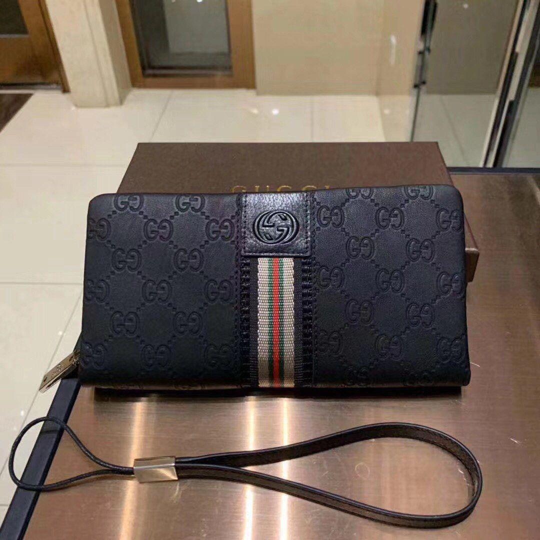 Adatti a nuovo Portafoglio in pelle Titolare borsa lunga borsa delicato degli uomini casuali della frizione Cash 0129202