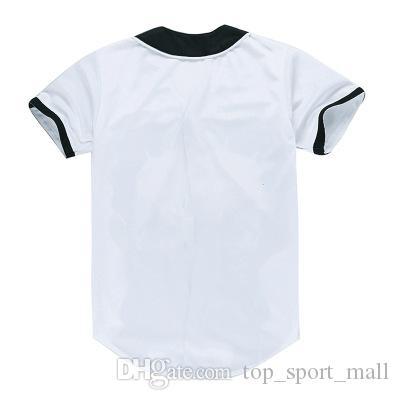 Moda 3D Hombres Camiseta de béisbol Sport Jersey Buena calidad con botón Venta en línea 15