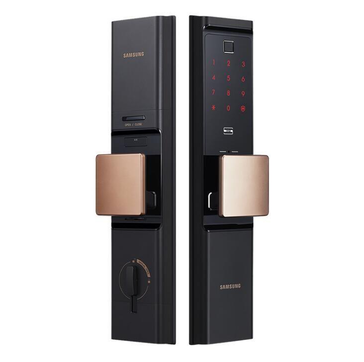 SAMSUNG отпечатков пальцев цифровой замок двери МНОГО бесключевого SHP-DR708 / SHP-DR717 Английский Verion Eurp Moritse