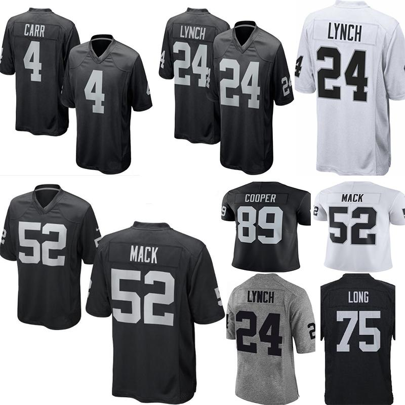 61732d25472 2019 Raiders 4 Derek Carr 24 Marshawn Lynch Jersey Men\u0027S 82 Jordy .