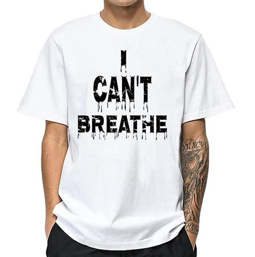 I Can't Breathe T-Shirt Black Lives Matter teenager T-Shirt Protest George Floyd Justice Everyone Matters Tees Shirts KKA7891