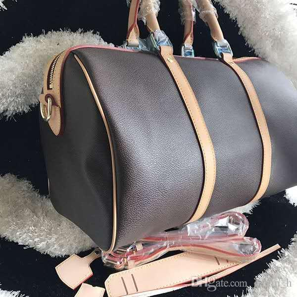 Messenger Sac à bandoulière 45cm Sac Boston Cuir Mode Célèbre Voyages Luxury Sacs à main Presbyopique Oxydation Beau Beau Grand Large QMSFH