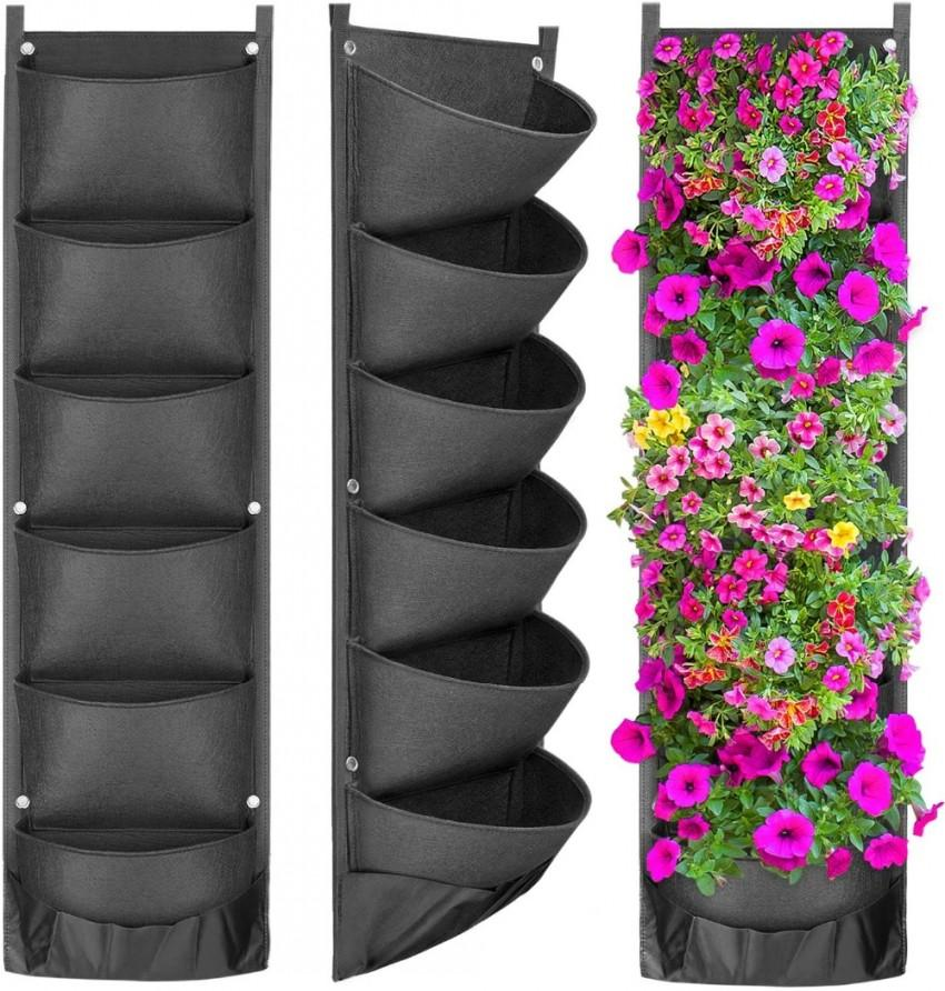 Hanging Vertical Garden Planter Vasi di fiori layout impermeabile attaccatura di parete di fiori borsa perfetta soluzione di decorazione del giardino
