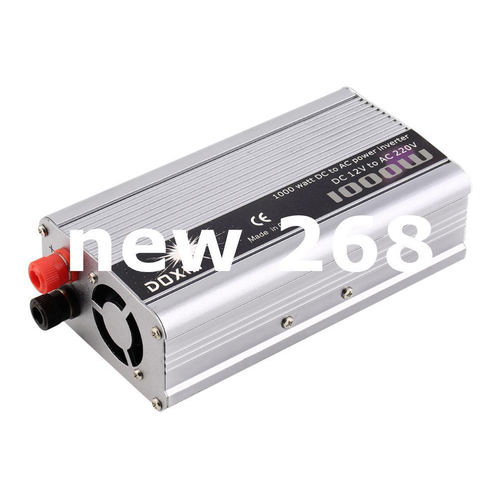 Freeshipping Hot Worldwide DC 12V to AC 220V Portable Car Power Inverter Charger Converter 1000W WATT New