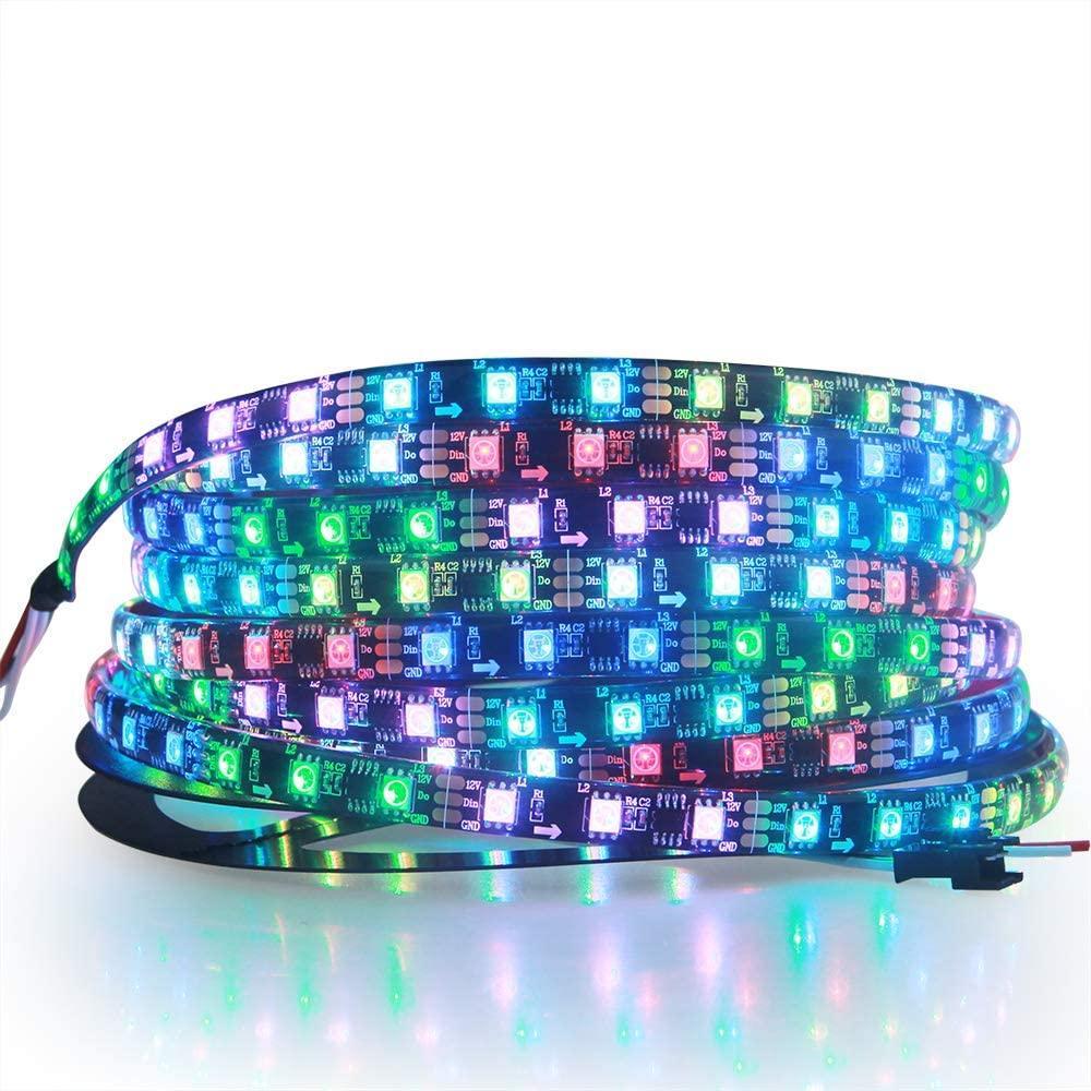 RGB LED قطاع عنونة WS2811 12V LED قطاع أضواء 16.4ft 300 المصابيح مرنة لون الحلم برمجة الرقمية LED بكسل حبل ضوء Waterpr