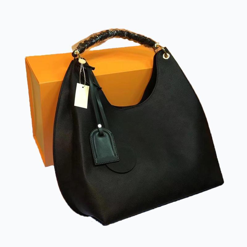 hohe Qualität Hobo Frauenhandtaschen L Blumenmuster Frauen Art und Weise Totes Eimer Geldbeutelhobo-Echtleder mit großer Kapazität Handtasche