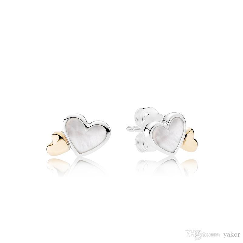 orecchini pandora cuore nel cuore