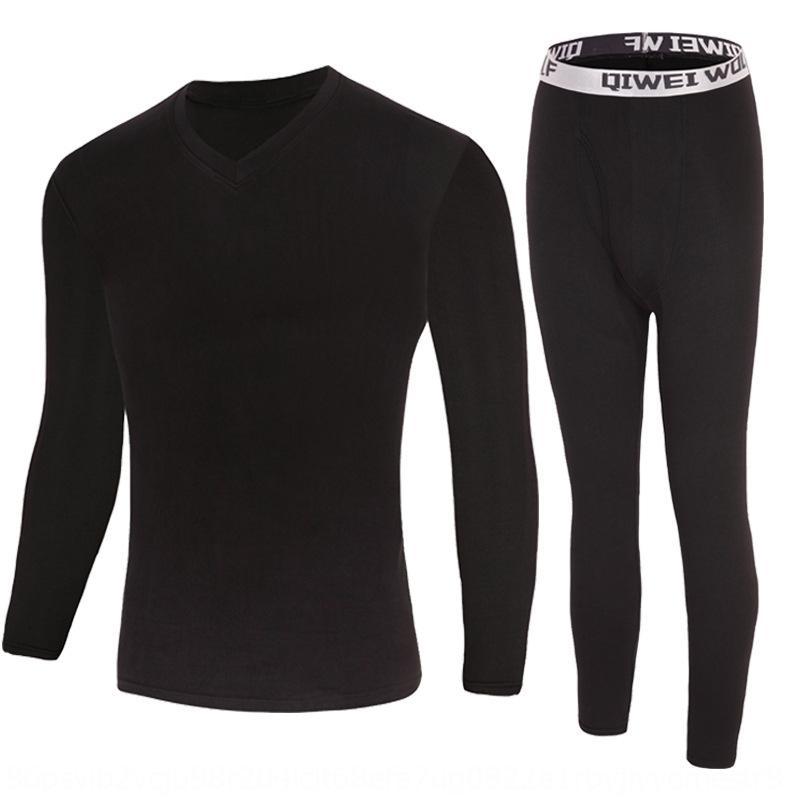 warm milk silk men's autumn clothes autumn pants men's thin base set Thermal underwear Milk silk underwear