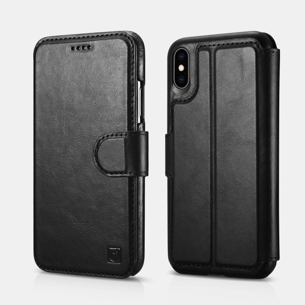 Оптовая Brand для iPhone хз Макс чехол съемный подлинной кожаный бумажник с застежкой,слот для карты Folio чехол и подставка