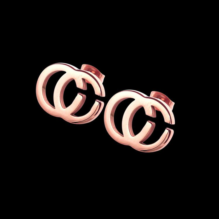 2020 Original Brand Stainless Steel Stud Earrings gold Plated 3 Colors G Stamp Fashion Designer Stud For Women wholesale Price