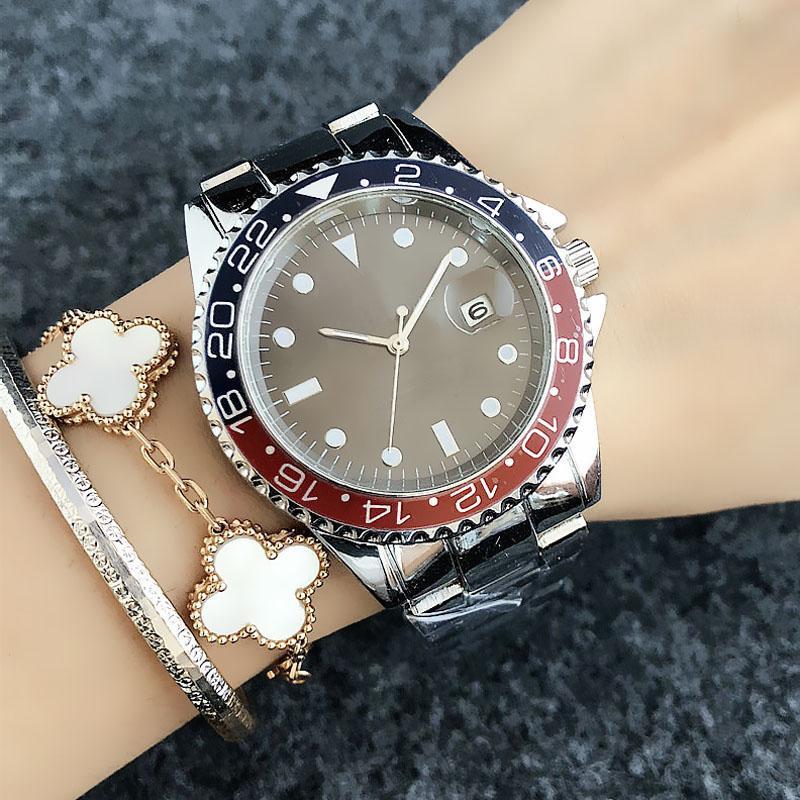 Fashion Wrist watch Brand Women's Men's style metal steel band quartz watches X44