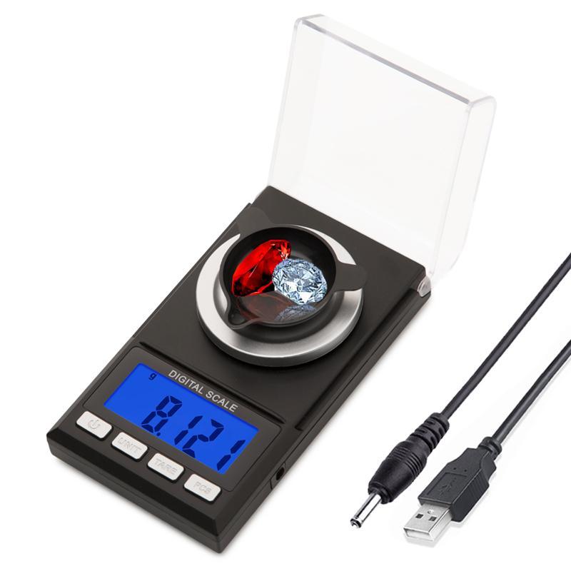100g / 50g / 20g 0.001g Escala de precisión digital para joyería Gold Herb Lab Peso Miligramo Escala Balanza electrónica Escala precisa