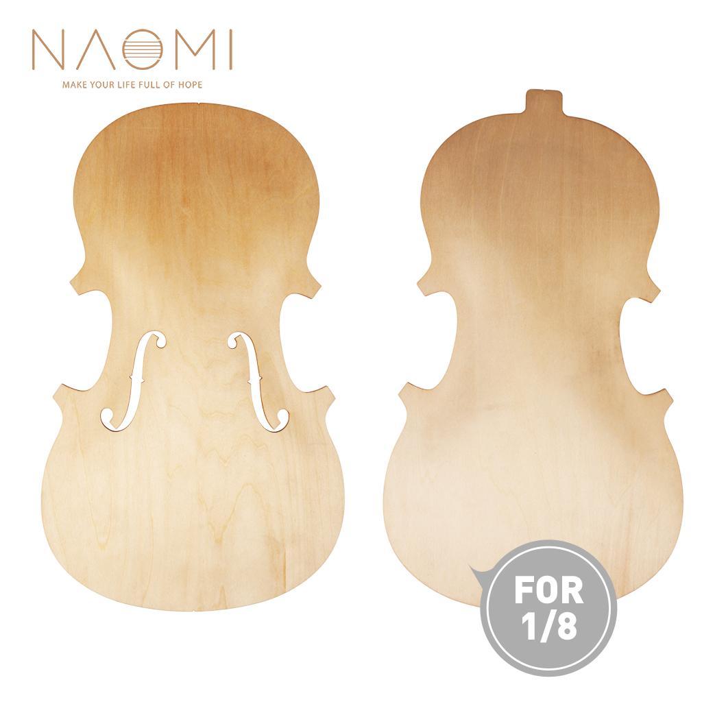 Наоми топ и обратно незавершенные части для скрипки 1/8 Solidwood Скрипка части аксессуары новый DIY Скрипка высокое количество