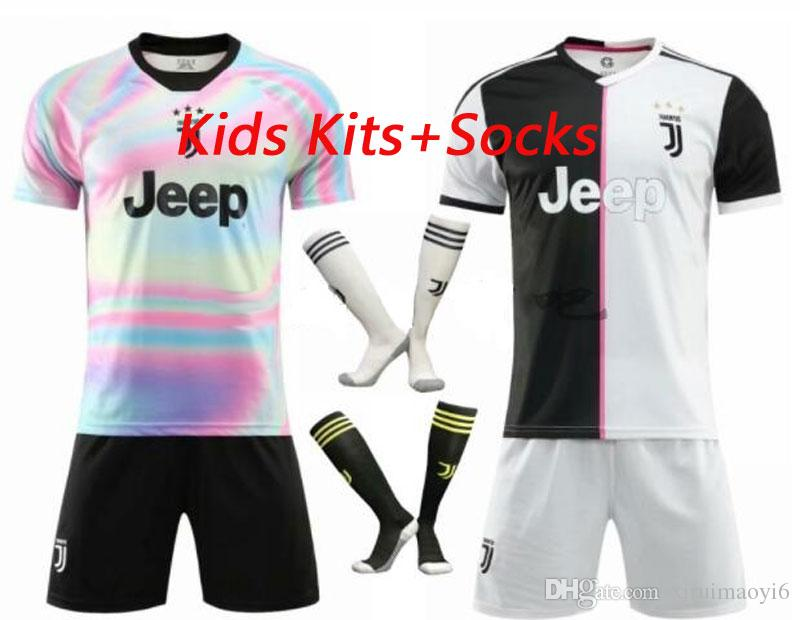 best service f8b23 ad255 2019 New #7 RONALDO JUVENTUS Home Third Kit Kids Soccer Jersey 18 19 DYBALA  JUVENTUS EA SPORTS JERSEY MANDZUKIC Football Shirt From Xiruimaoyi6, ...
