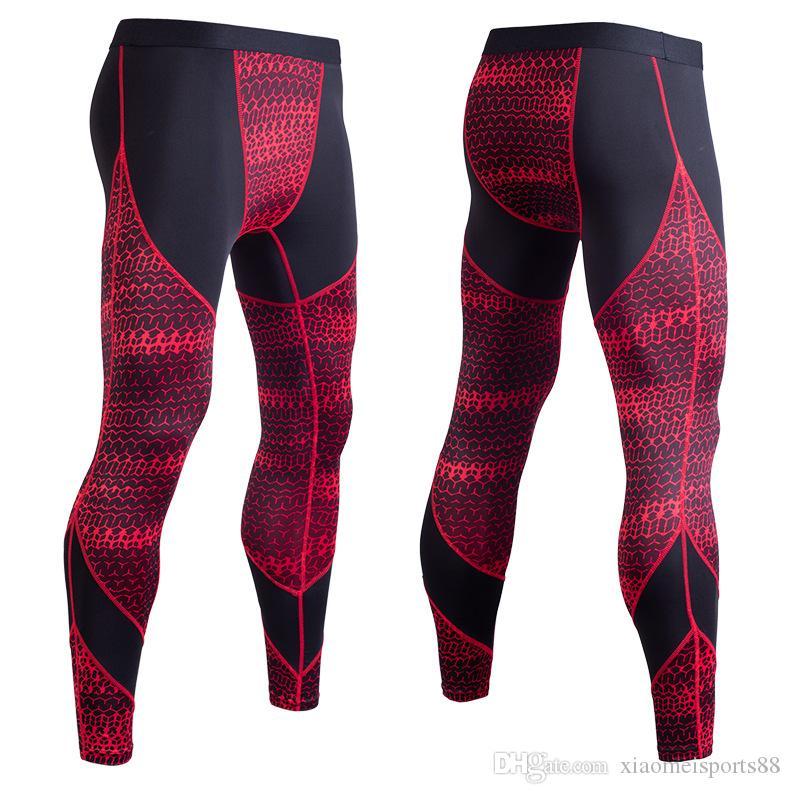 enge Hosen Compression Hosen Strumpfhosen Männer Sport Leggings Fitness Sportswear Lange Hose Gym Training Pants dünner Leggins Hombre