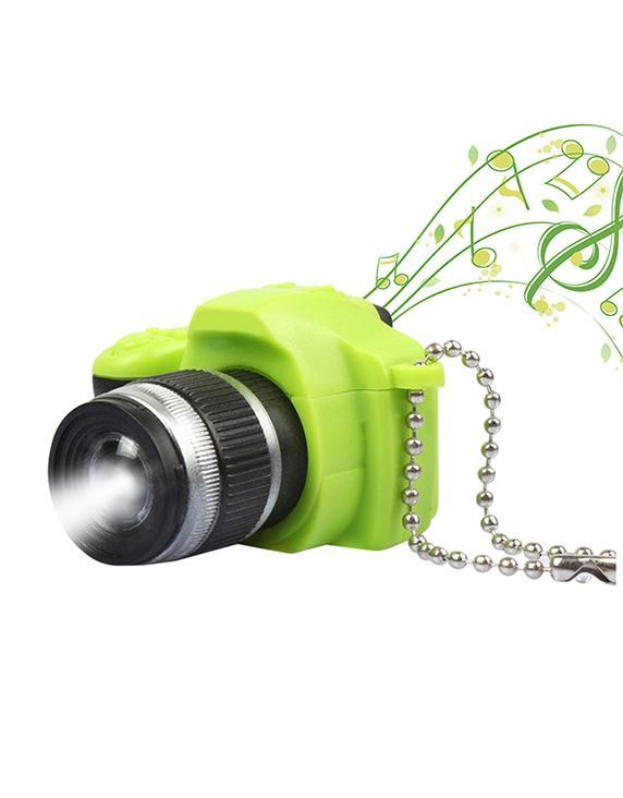 LED Audio Camera Model Key Chain Creative Ornaments Car Key Chain Bag Ornaments Valentine's Day gift