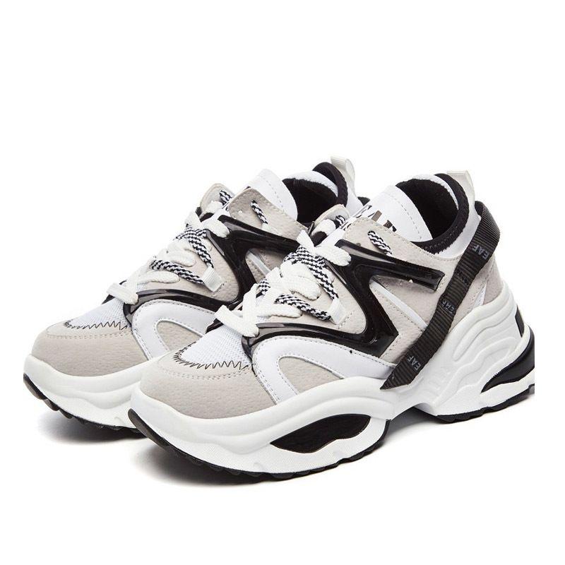 Cuir Blanc Chaussure Femmes Baskets Haut Haut Dame Chaussure Respirant Automne Femme Casual Augmenter Footware MX190723