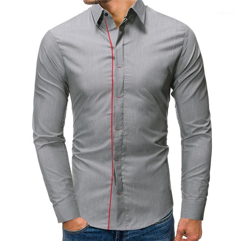 Camicie gira giù a maniche lunghe Mens magliette casual Designer Mens Abbigliamento Moda Uomo