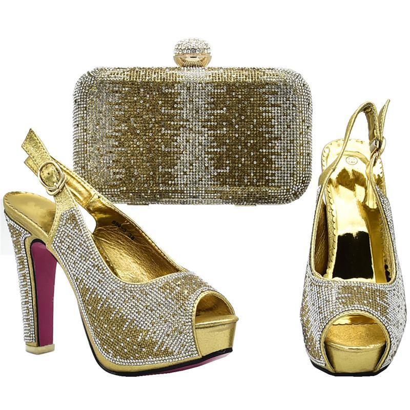 Nouvel Arrivage Chaussures italiennes avec des sacs assortis pour femmes Party In Chaussures et Sacs assortis de haute qualité Chaussures et Set Sac en talons
