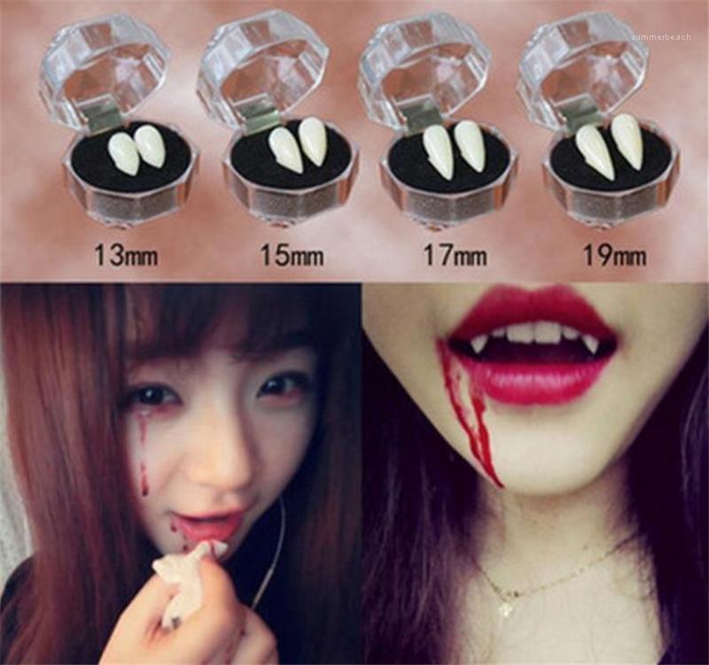 Vampir Protez Moda Beyaz Zombi Diş Cosplay Kostüm Aksesuarları Cadılar Bayramı Yanlış Diş