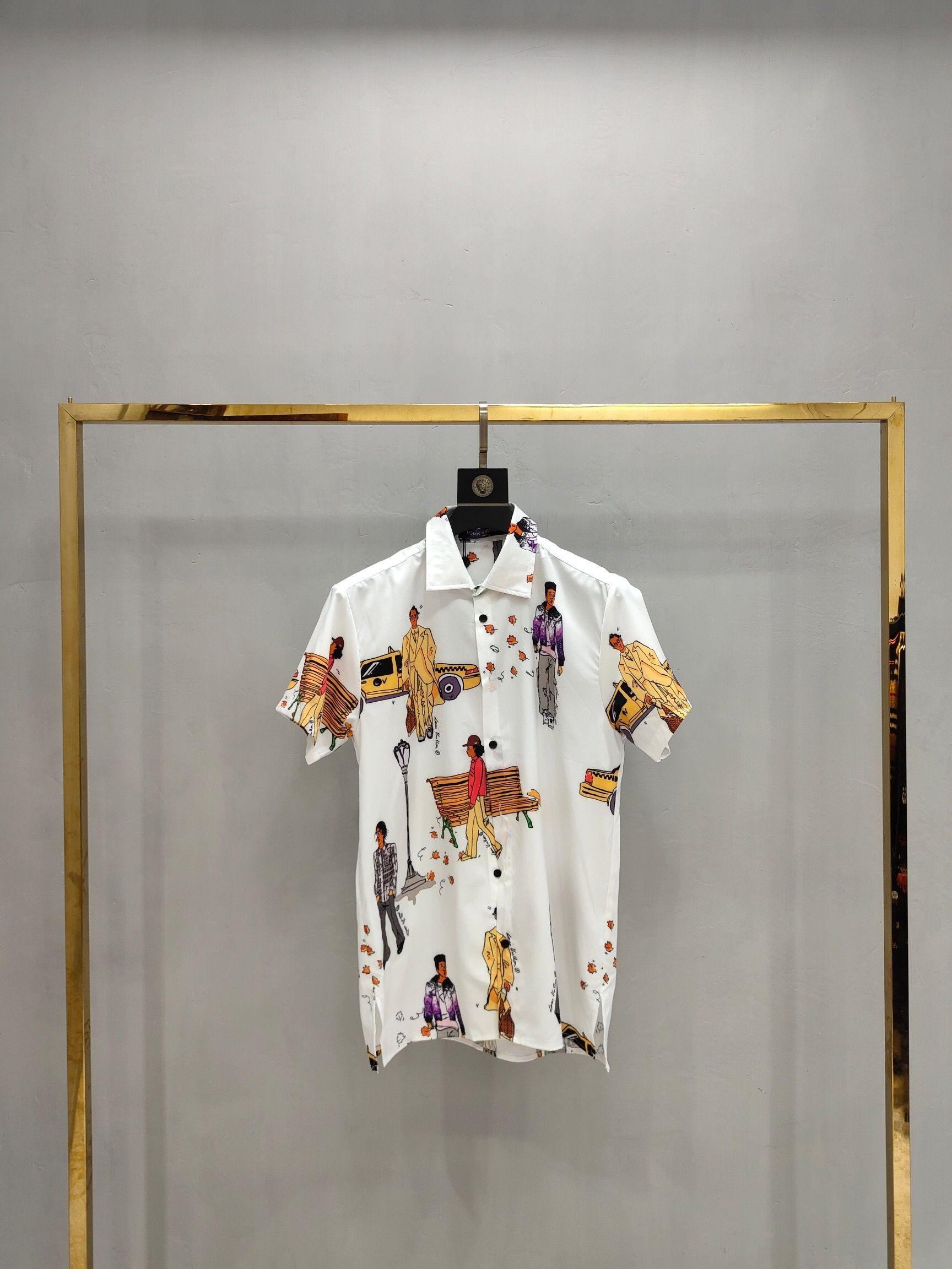 2020 Mens Designer T Shirts Black White Red Mens Fashion Designer T Shirts Top Short Sleeve The high quality S-XXL131
