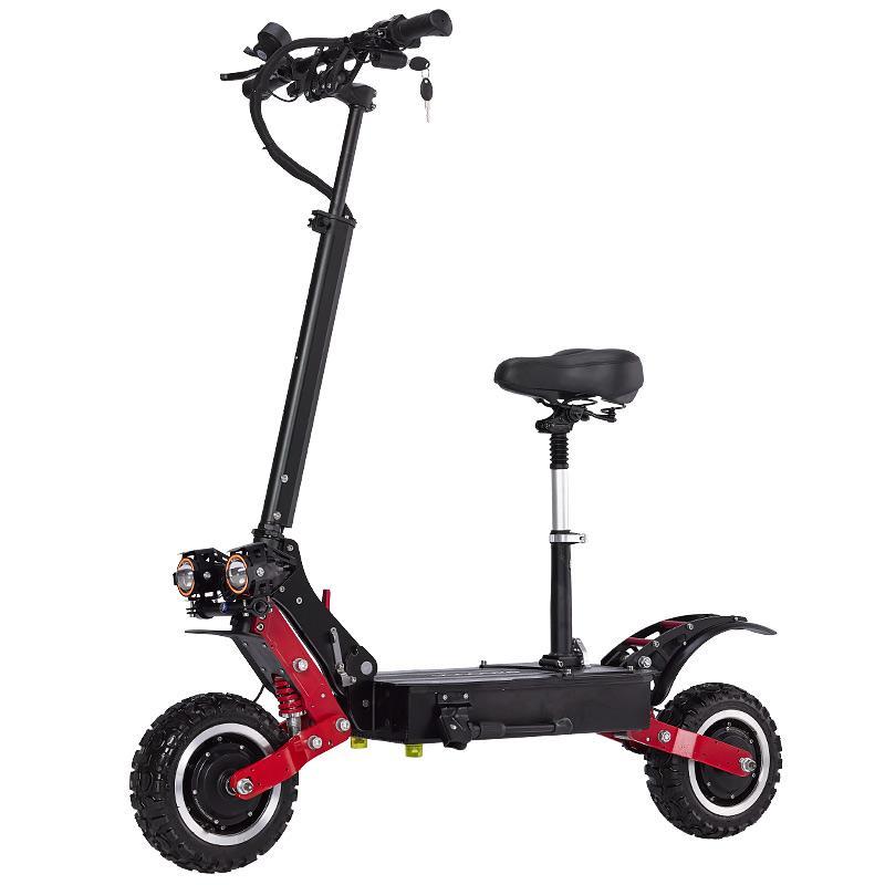 janobike 85 kmh scooter électrique 5600W scooter électrique double Toutes tentative d'alliage d'aluminium avec frein hydraulique