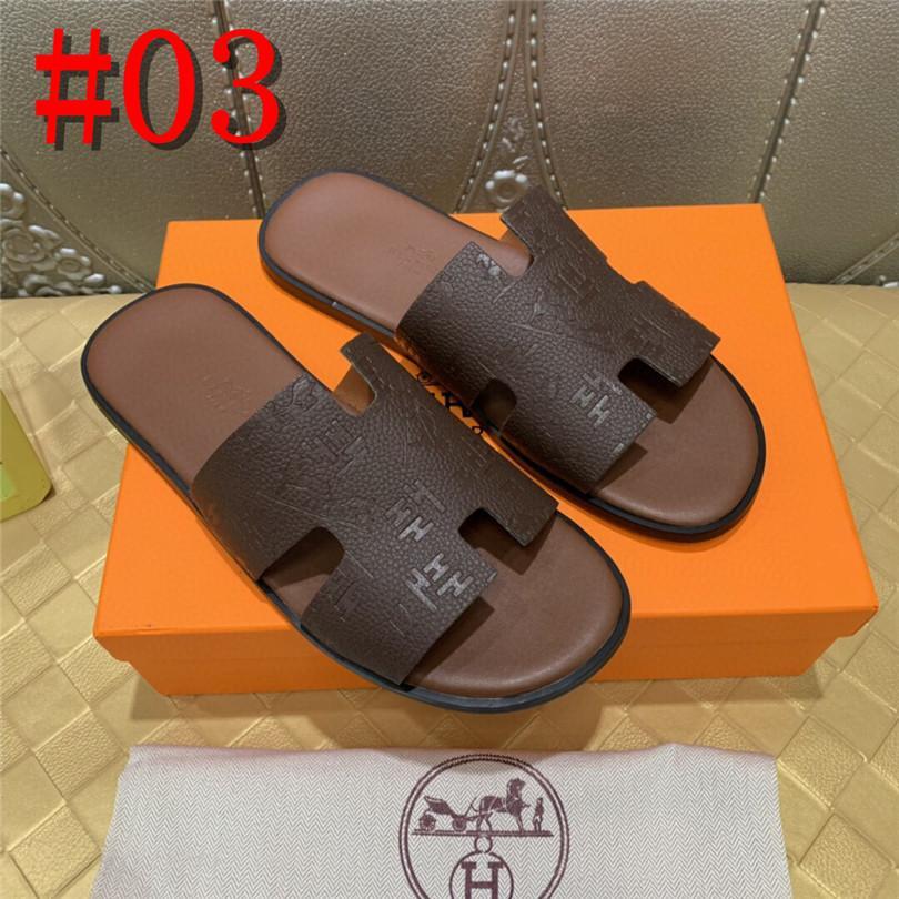 19FS deslizamento preto em chinelos flip flop aberto sandálias de dedo de couro do verão nativa sapatos lâminas ao ar livre do desenhador homens de moda de alta qualidade