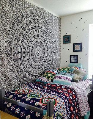 150X 200cm Mandala Hippie Tapestry Bedroom Wall Hanging Square Boho Room  Decor Tapestry Wall Hanging Textiles Wall Hangings From Dayao01, $20.11| ...
