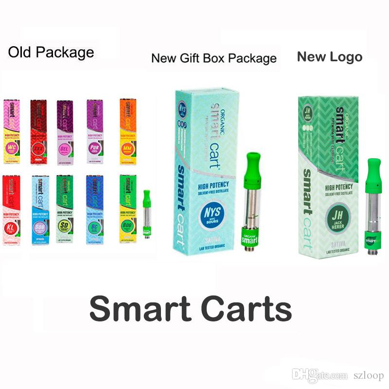 SmartCart Vape Cartridge 1 0ml Ceramic Coil Smart Carts Vapor Tank 8  Flavors 1g Top Filling No Leakage Design Ego One Coils Kanger Protank 3  Coils