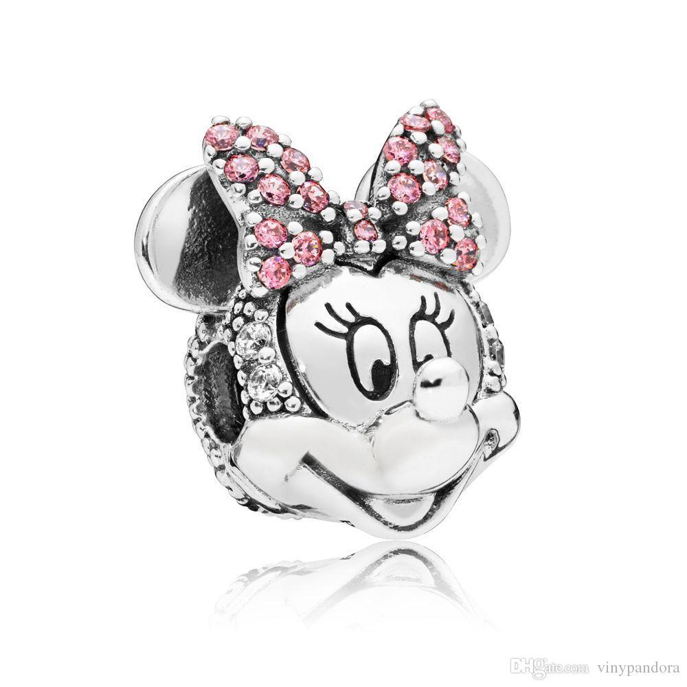 100% argent sterling 925 chatoyant MM Portrait Clip Charm Perle Convient Européen Pandora Bijoux Charme Bracelets