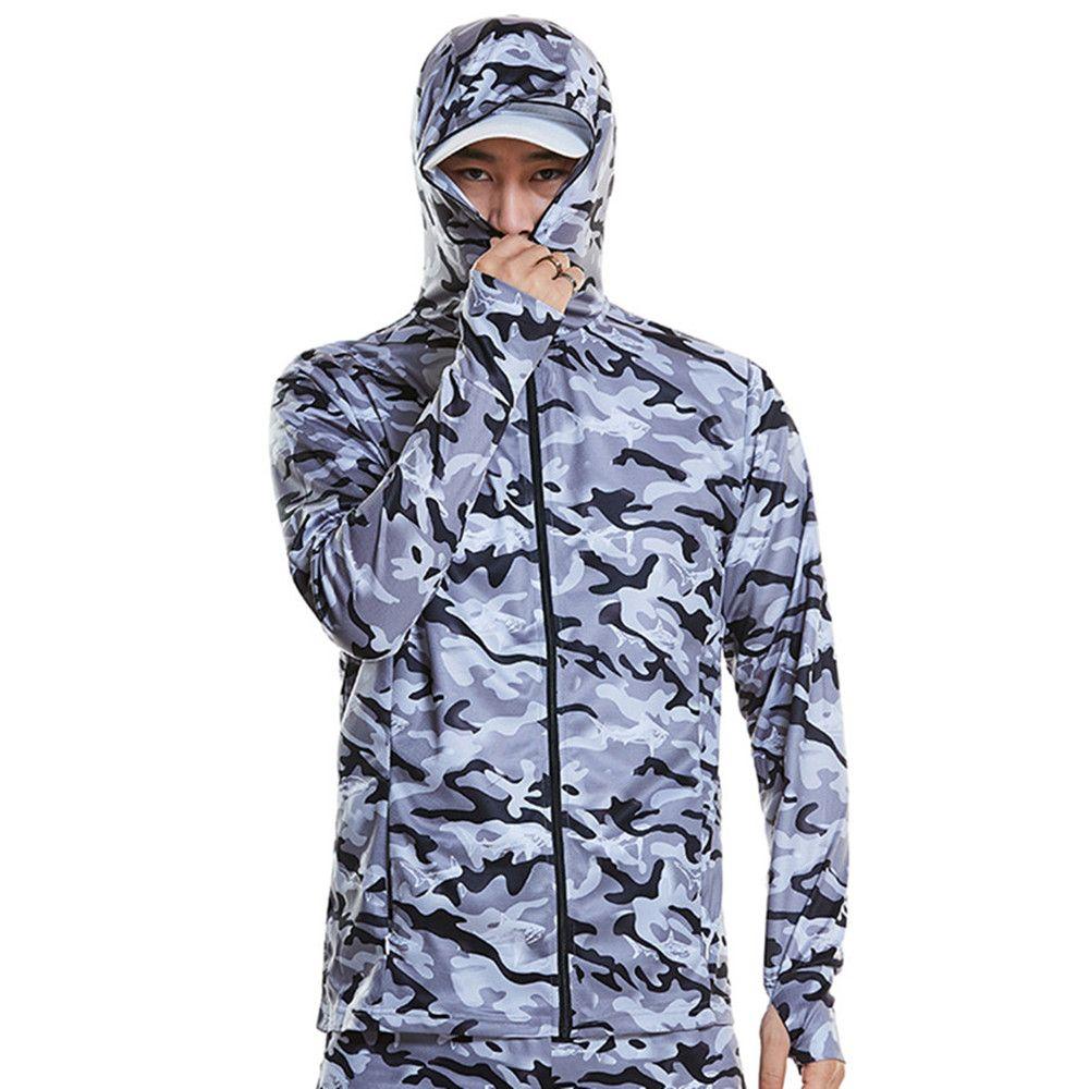 Мужчины толстовки рыболовная одежда с длинным рукавом открытый дышащий рыболовные рубашки анти УФ быстросохнущие Велоспорт пешие прогулки одежда
