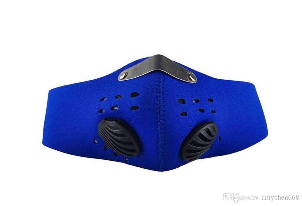 Bisiklet Maskesi Yarım Yüz Bisiklet Bisiklet Filtre Ile Neopren Aktif Karbon Mesh Kumaş 3 Renkler