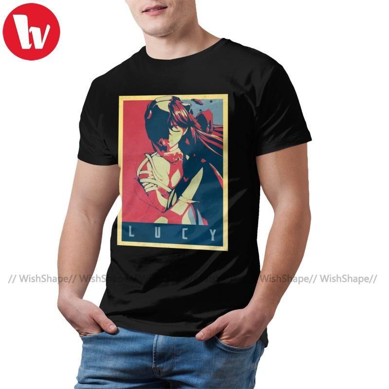 Elfen Lied-T-Shirt Elfen Lied Politische Anime T-Shirt 4xl Männer-T-Shirt Lustige kurze Hülsen-Grafik-T-Shirt