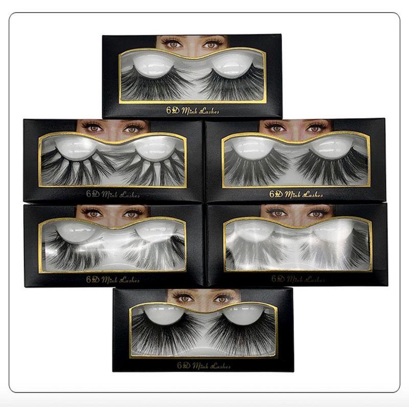 10style venda quente 25mm cílios falsos 5d cabelo vison 6d tridimensional desarrumado bushy eyelashes 2 pcs = 1 par = 1 lote frete grátis DHL