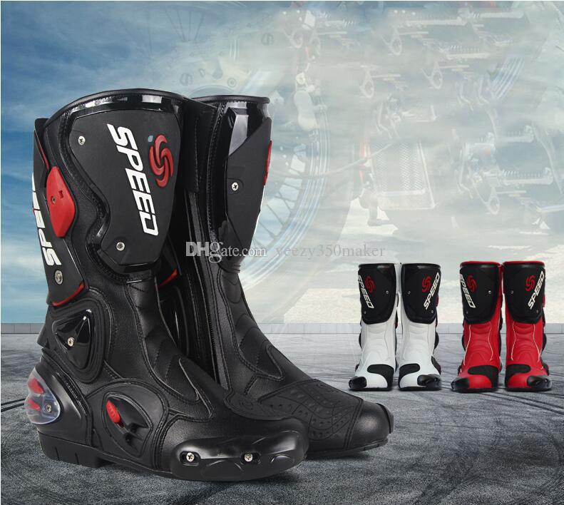 Bottes de moto équitation chaussures hiver mâle été quatre saisons de course bottes anti-chute chaussures moto chaussures de course de chevalier