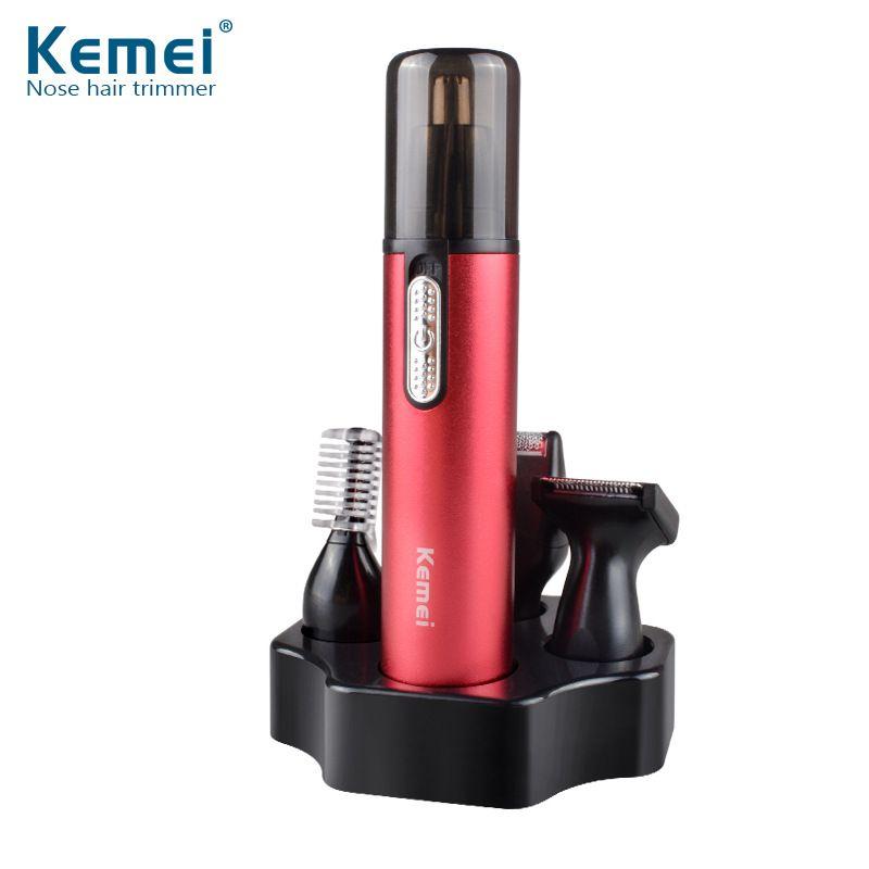 Keimei 6620 4 en 1 nez Tondeuse Tondeuse à barbe pour les hommes rasoir Sourcils Tondeuse pour couper les cheveux du visage 18mm
