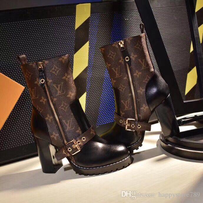 N55 últimas real de cuero atractivo del talón de tacón de arranque Designered las zapatillas de deporte ocasionales de la manera de las mujeres Zapatos formadores mujeres Mixta de arranque de las mujeres del color
